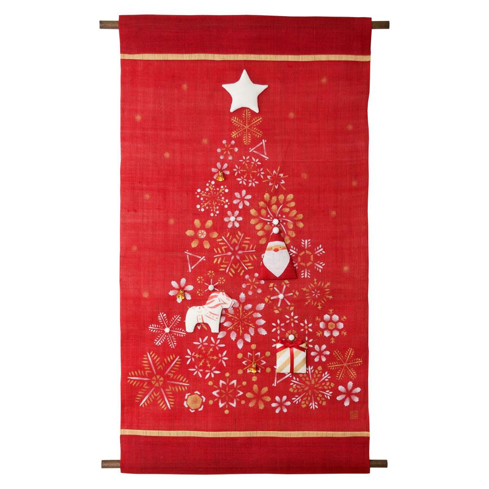 日本市 オーナメントタペストリー クリスマスツリー赤 45×80cm Nippon-ichi Ornament tapestry, Christmas tree