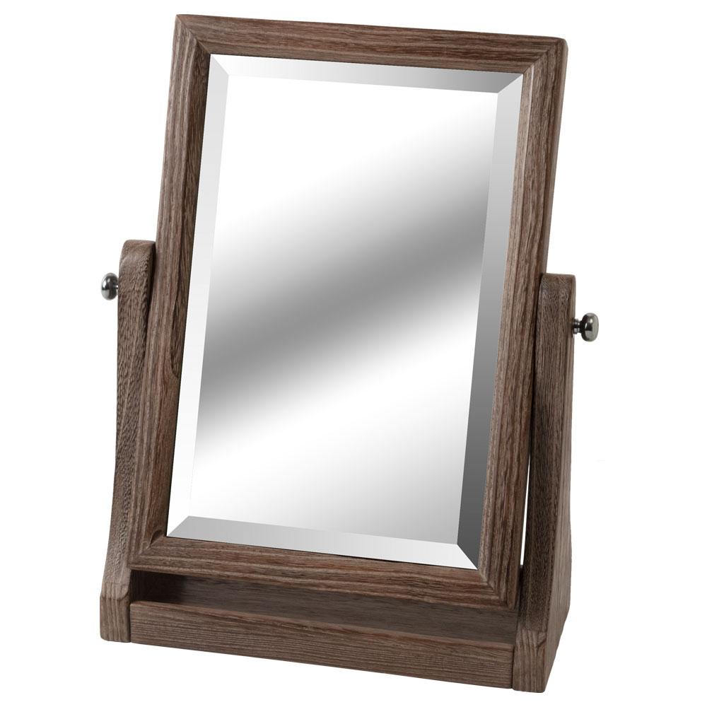 桐木目込み細工 卓上ミラー 化粧鏡 縦 箱長の桐工芸品 Makeup mirror of Paulownia, Hakocho