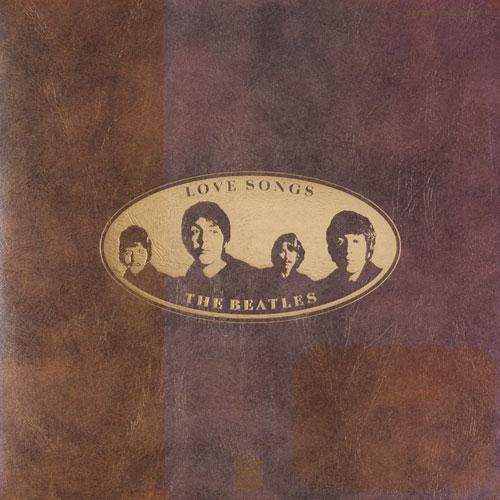 披頭士樂隊的愛情歌曲甲殼蟲樂隊愛歌曲類比 LP 記錄 2 盤集存儲配件