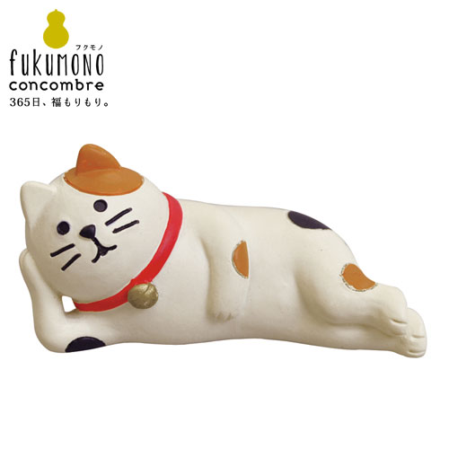 concombre santaclaus (ZCB-82572) Calico cat figurine, figure Nap cat  figurine