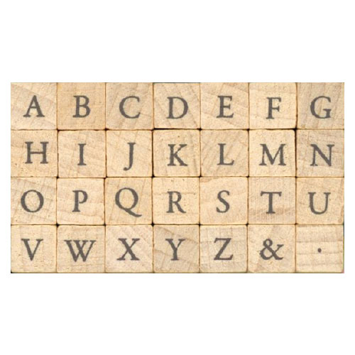 One Of Petit Letter Stamp Set Small Garamond Capital 1228 001 Child Or Character