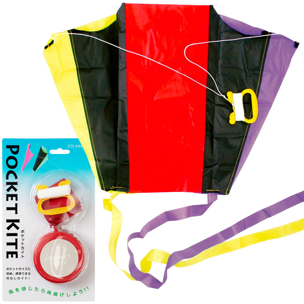 A Kite カイト age 6 years old targeted for a kite flying to a pocket kaito red pocket  kite style comfortably or older