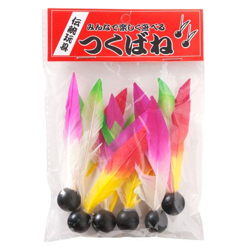 日本のおもちゃ: 羽子板羽根 気質アップ 輸入 6個入 つくばね
