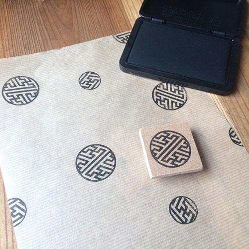 The round shape friendship pattern はんこ Saaya form eraser はんこただのやまもと  Japanese pattern hanko stamp whom it is easy to employ