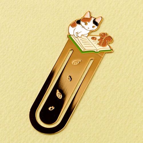 ブックマーカー(しおり) 読書11 りす (BM-11) ポタリングキャット Cat bookmark, Pottering cat