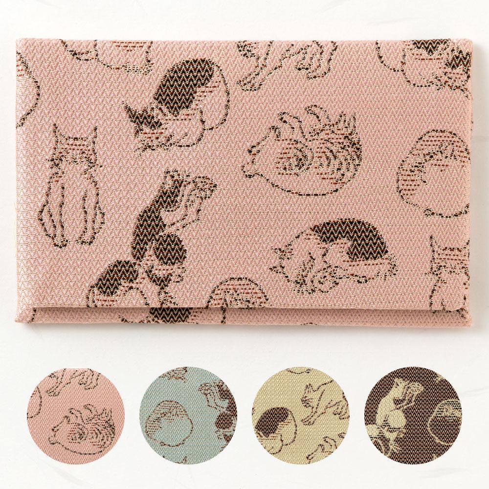 Wakeiseijyaku rakuten global market card case kyoto nishijin cat card case kyoto nishijin cat pattern business card holder full of cats colourmoves