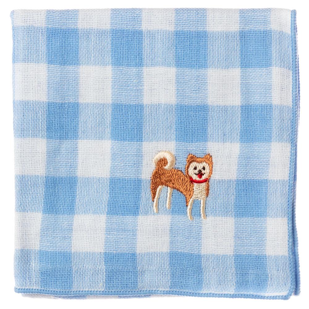 왕개손수건시견카란코론 교토《일본 CHA CHA CHA》Handkerchief of dog pattern