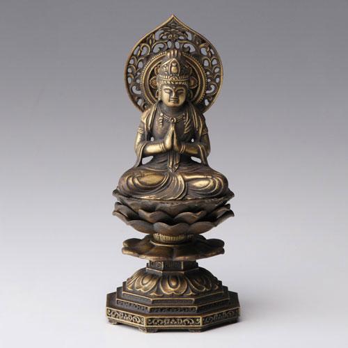 仏像・八体仏 高岡鋳物 勢至菩薩 15cm (BZ-005) 午年生まれのお守本尊 インテリア鋳造仏 Casting Buddha statue Takaoka imono Seishi bosatsu