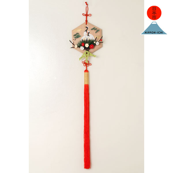 亀甲巣篭もり鶴飾り 日本市 正月飾り