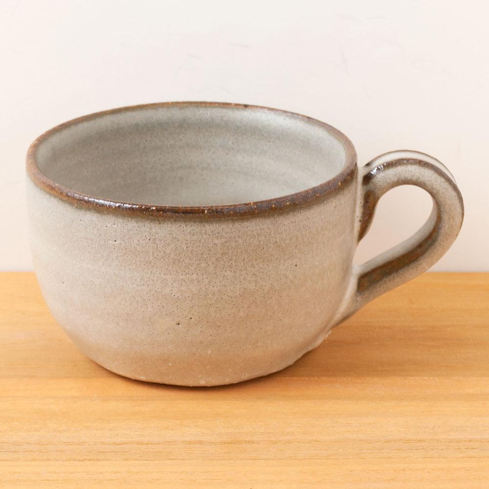 信楽焼 カフェオレボウル 白 作者:中村文夫(なか工房) 滋賀県の工芸品 Shigaraki-yaki Cafe au lait bowl, Shiga craft