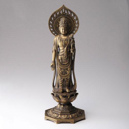 仏像 高岡鋳物 聖観音菩薩 36cm (BZ-051) インテリア鋳造仏 Casting Buddha statue Takaoka imono Seikanon bosatsu