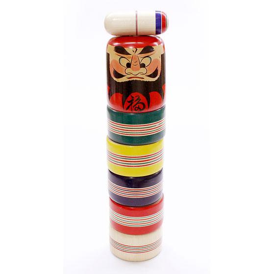 巨大だるま落とし 尺2 山形県の木地玩具