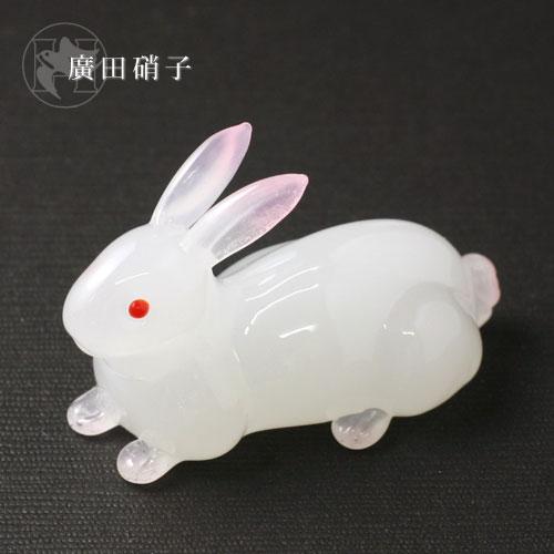 Hirota glass glass chopstick rest rabbit