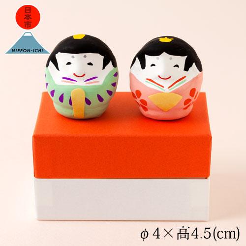 日本市+春日部張孩子玩偶店雛達磨桃子綠Kasukabe hariko ningyou,Paper figurine