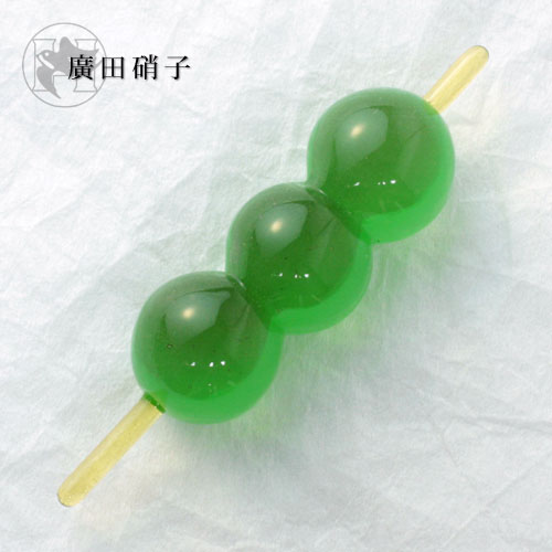 Hirota glass co., Ltd. glass Japanese-style confection chopstick grass dumpling