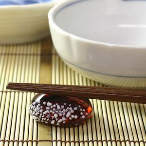 Hirota glass co., Ltd. glass Japanese-style confection chopstick rest Tanba chestnut yokan