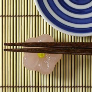 Hirota glass co., Ltd. glass Japanese-style confection chopstick rest dough cut enough small cherry trees * rest