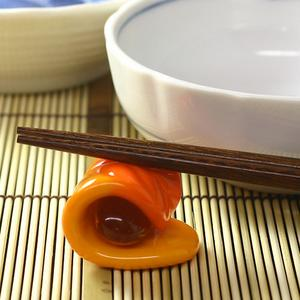 Japanese sweet chopstick rest kneading on fire limit 木枯 of the Hirota glass glass