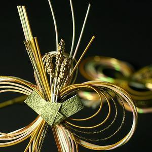裝飾 mizuhiki (大) 2 塊水稻黃金 (WR-M21)