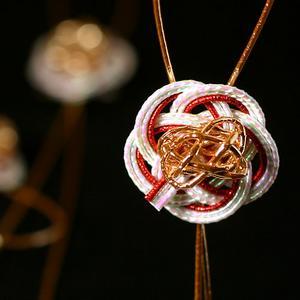 飾品 mizuhiki Petit 5 件紅色花 (WR-N14-5)