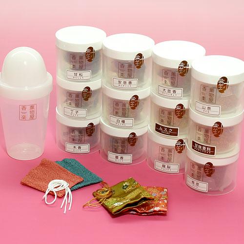 伝統的な香原料で自分だけの和の香り手作り匂い袋キットトラディショナルタイプ
