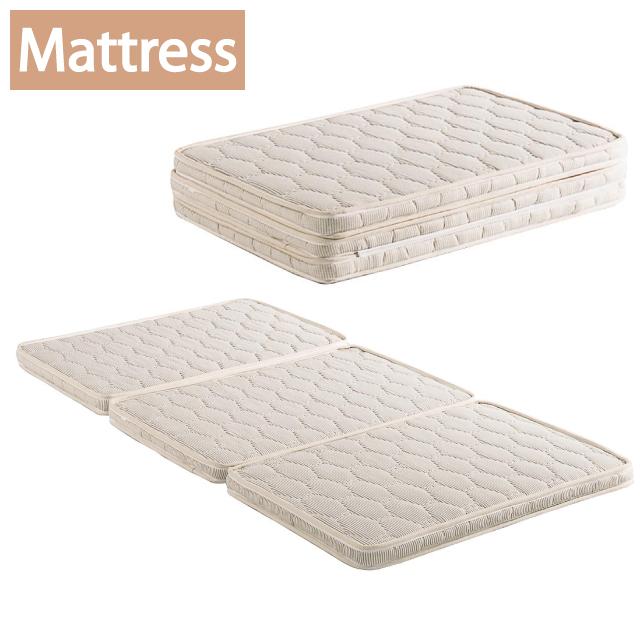 ベッド マットレス マット シングルサイズ 三つ折り 天然ココナッツパーム繊維 厚さ6.5cm