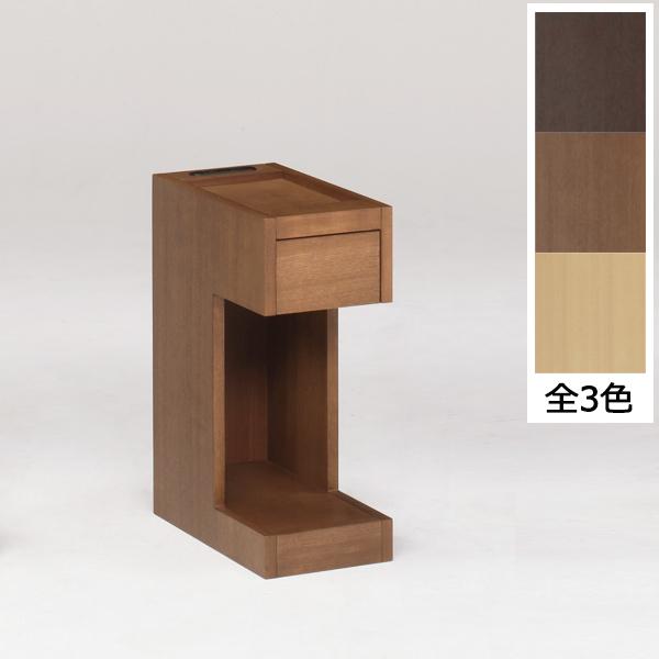 ナイトテーブル サイドテーブル ベッドサイドテーブル ミニテーブル モダン 収納付き 棚 サイドボード 幅20cm スリム