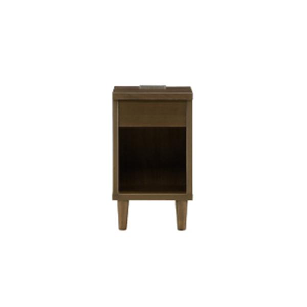 ナイトテーブル サイドテーブル ベッドサイドテーブル 木製 おしゃれ モダン コンセント付き 脚付き 収納付き 幅30cm ミニテーブル