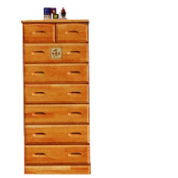 チェスト タンス ハイチェスト 幅60cm 引き出し 7段 木製 パイン材 【 完成品 】 送料無料