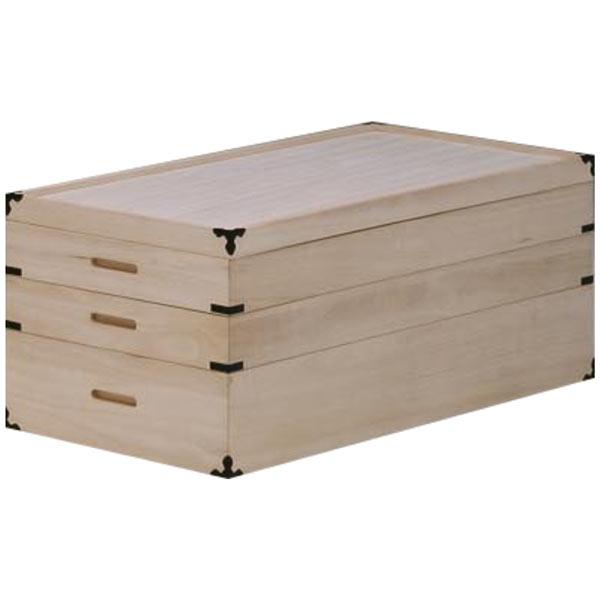衣装箱 衣装ケース 桐箱 和タンス 3段 和風 【 木製 完成品 】