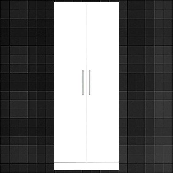 Wardrobe Lockers Hanging Clothes Closet Width 70 Cm Mirror Finish Shine And 05p23aug15 Wood White