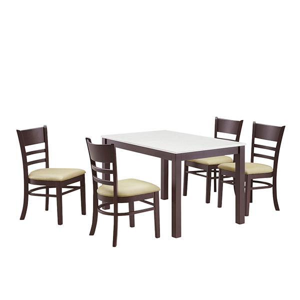 ダイニングセット ダイニングテーブル5点セット 4人用 4人掛け 5点セット 幅115cm 食卓セット テーブル チェア 木製 シンプル モダン