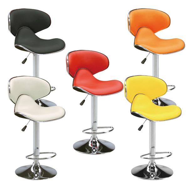 バーチェア カウンターチェア チェア 椅子 イス ハイチェア 昇降式 背もたれ付 送料無料