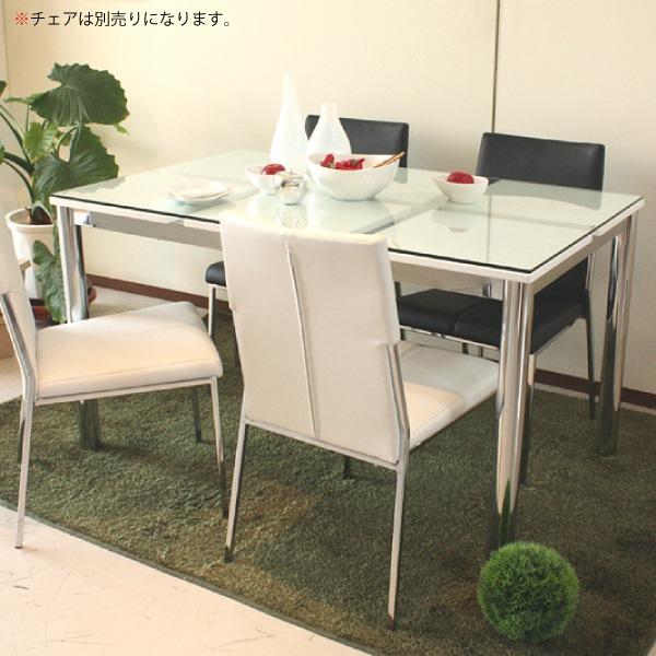 【ポイント3倍 8/9 9:59まで】 ダイニングテーブル テーブル ダイニング ガラス 食卓 幅130cm 化粧版 スチール 送料無料