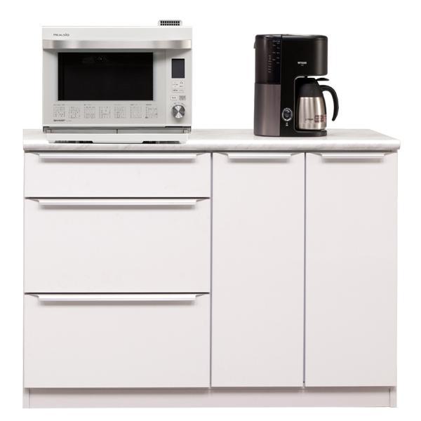 キッチンカウンター カウンター 幅120cm 完成品 レンジ台 キッチン収納 食器棚 間仕切り 日本製 おしゃれ 家電収納