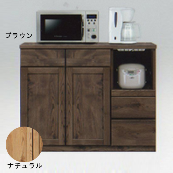 キッチンカウンター カウンター 北欧風 キッチン収納 レンジ台 キッチン台 木製 家具 食器収納 幅105cm おしゃれ 日本製 完成品 送料無料