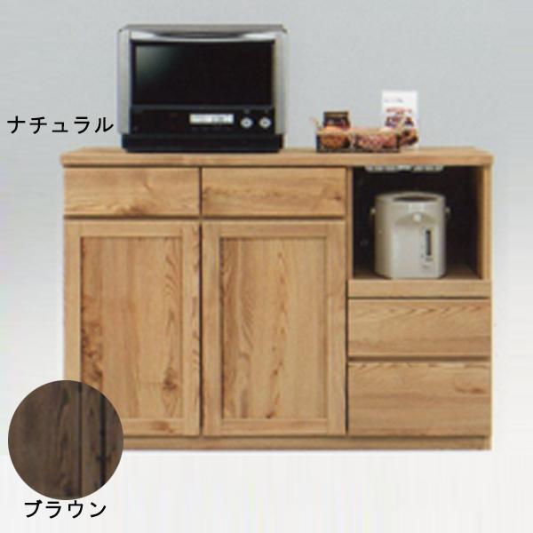 キッチンカウンター カウンター 北欧風 キッチン収納 レンジ台 キッチン台 木製 家具 食器収納 幅120cm おしゃれ 日本製 完成品