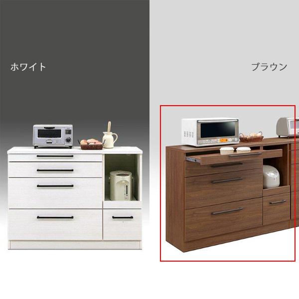 キッチンカウンター カウンター モダン キッチン収納 引き出し収納 木製 幅120cm 日本製 国産 完成品 モイス加工
