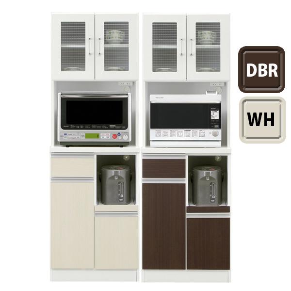 キッチンボード ダイニングボード 食器棚 キッチン収納 カップボード 収納家具 幅60cm 完成品 家電収納 大川家具