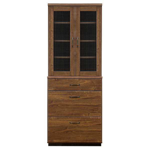 キッチンボード ダイニングボード キッチン収納 収納家具 クロスペンガラス 食器棚 耐震仕様 完成品 送料無料