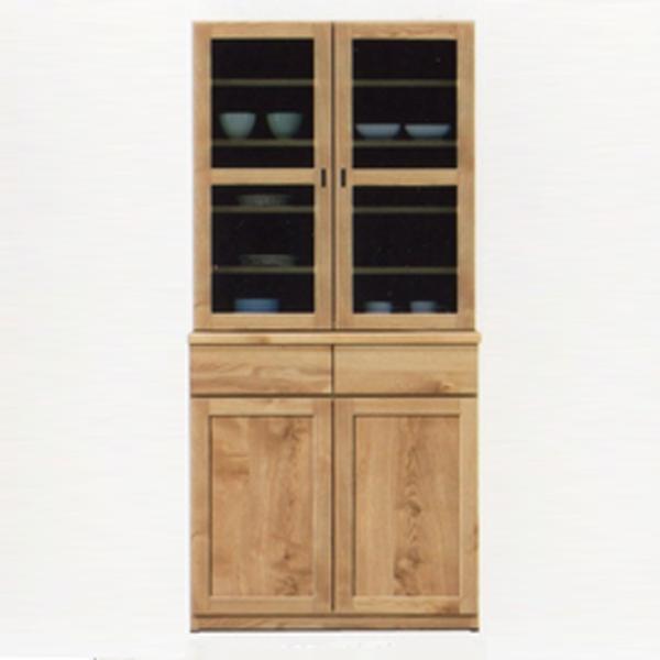 食器棚 ダイニングボード 北欧風 キッチン収納 木製 家具 食器収納 幅80cm おしゃれ 日本製 完成品