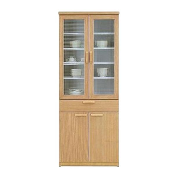 食器棚 ダイニングボード 完成品 北欧 ナチュラル キッチン収納 幅70cm 食器収納 家具 木製 タモ キッチンボード 国産 送料無料