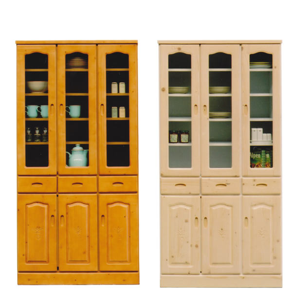 食器棚 ダイニングボード キッチンボード キッチン収納 木製 完成品 開き戸 幅90cm 【 完成品 】 送料無料