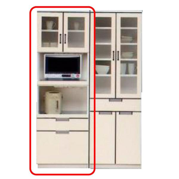 【ポイント3倍 8/9 9:59まで】 レンジ台 レンジボード 幅60cm ハイタイプ 食器棚 キッチン収納 木製 完成品 送料無料