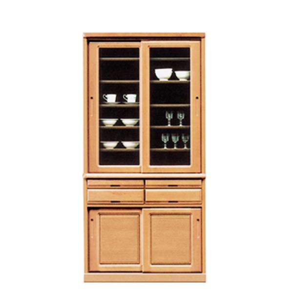 キッチンボード ダイニングボード 引き戸 食器棚 幅96cm キッチン収納 【 開梱設置無料 】 国産 木製 完成品 送料無料