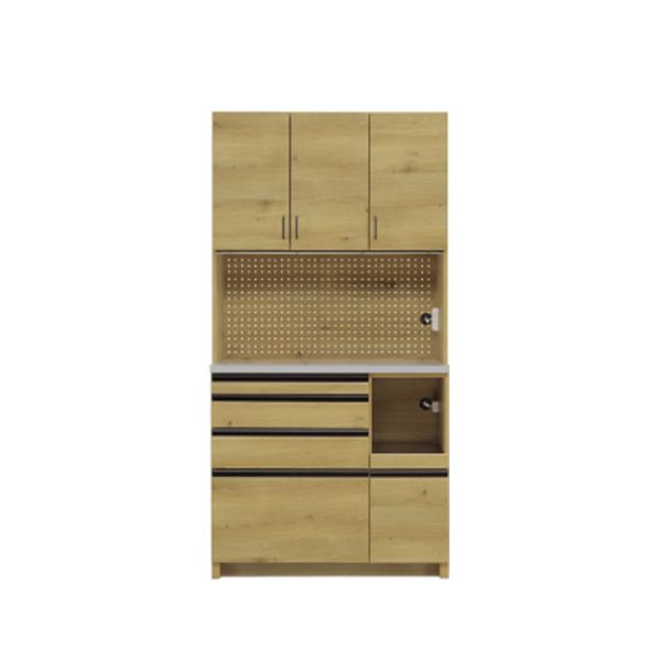 キッチンボード レンジボード 北欧 モダン レトロ 幅100cm キッチン収納 キッチン家具 収納家具 家電収納 木製 【 開梱設置付き 】