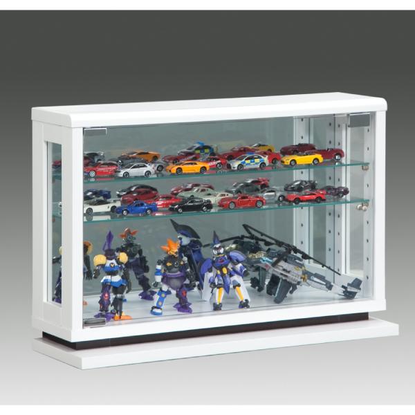 コレクションケース コレクションボード キュリオケース ディスプレイラック ディスプレイ スリム 薄型 飾り棚 幅60cm フィギュアラック モダン ナチュラル ブラウン 白 完成品