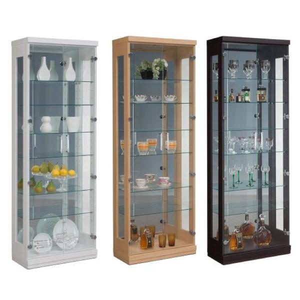 コレクションボード コレクションケース キュリオケース ディスプレイラック ディスプレイ 飾り棚 幅62cm フィギュアラック モダン 完成品 ガラス 送料無料