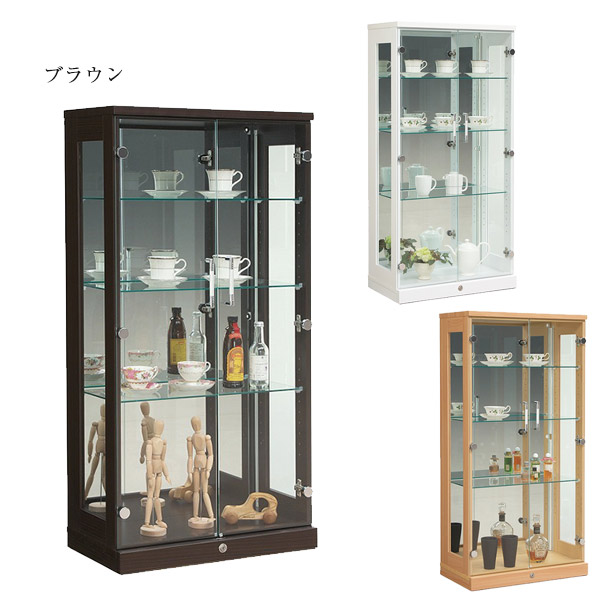 コレクションケース コレクションボード 幅65cm ロータイプ ガラスケース モダン 飾り棚 ショーケース ディスプレイ収納 キャビネット 完成品