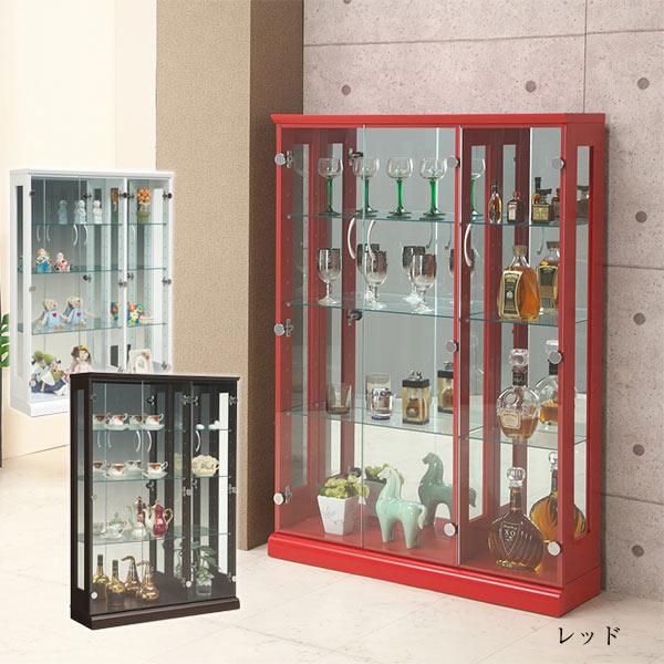 コレクションボード コレクションケース キャビネット 幅90cm スリム収納 ガラスケース モダン おしゃれ ディスプレイ収納 完成品